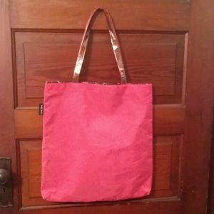 Large Lancome Hot Pink Tote Bag